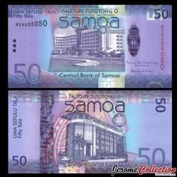 SAMOA - BILLET de 50 Tala - 50e anniversaire de l'indépendance - Hybride - 2012 P42a
