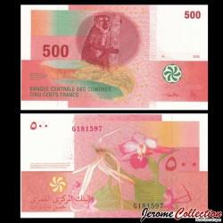 COMORES - Billet de 500 francs - 2006