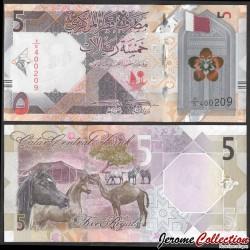 QATAR - Billet de 5 Riyals - chevaux, chameau, gazelles - 2020 P33a