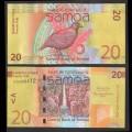 SAMOA - BILLET de 20 Tala - Oiseau de Manumea - 2017 P40c