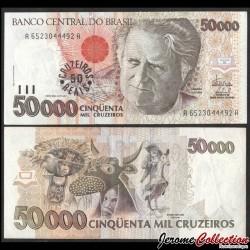 BRESIL - Billet de 50 Cruzeiros Reais - Luís da Câmara Cascudo - 1993 P237a