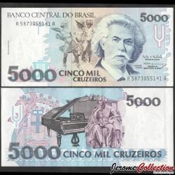 BRESIL - Billet de 5000 Cruzeiros - 1990 P232c