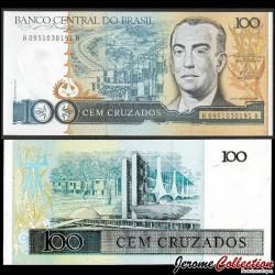 BRESIL - Billet de 100 Cruzados - Juscelino Kubitschek - 1986 P211a