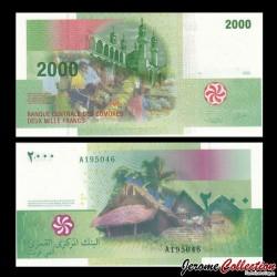 COMORES - Billet de 2000 francs - 2005 P17a