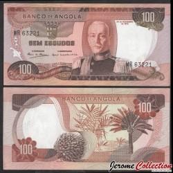 ANGOLA - Billet de 100 Escudos - Maréchal António Oscar de Fragoso Carmona - 1972 P101a