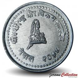 NEPAL - PIECE de 25 Paisa - Gyanendra Bir Bikram - 1997 - २०५४