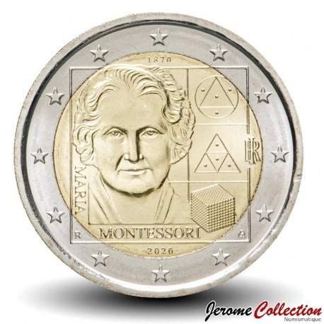 ITALIE - PIECE de 2 Euro - Docteur Maria Montessori - 2020 Km#NEW