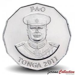 TONGA - PIECE de 50 Seniti - Plan de tomate - Fao - 2011