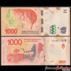 ARGENTINE - Billet de 1000 Pesos - Oiseau Fournier roux - 2019 P366d