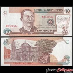 PHILIPPINES - Billet de 10 Piso - Apolinario Mabini - 1995 P181a