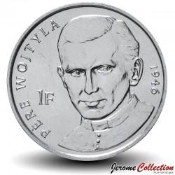 CONGO - PIECE de 1 Franc - 25 ans de la visite de Jean Paul II - Prêtre - 2004 Km#156