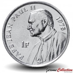 CONGO - PIECE de 1 Franc - 25 ans de la visite de Jean Paul II - Pape - 2004 Km#158