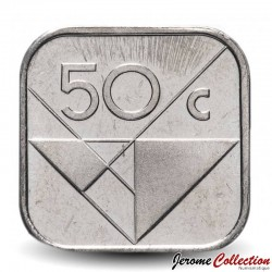 ARUBA - PIECE de 50 cents - Reine Beatrix - 1998 Km#4