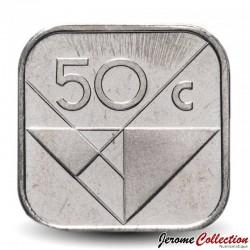 ARUBA - PIECE de 50 cents - Reine Beatrix - 1995 Km#4