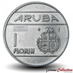 ARUBA - PIECE de 1 FLORIN - Reine Beatrix - 1989