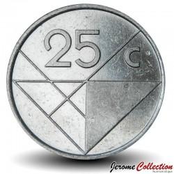 ARUBA - PIECE de 25 Cents - Reine Beatrix - 2008 Km#3