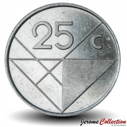 ARUBA - PIECE de 25 Cents - Reine Beatrix - 2001 Km#3