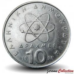 GRECE - PIECE de 10 DRACHMES - Démocrite - 1998