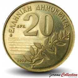 GRECE - PIECE de 20 DRACHMES - Dionysios Solomos - 1998