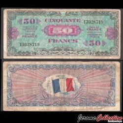 FRANCE - BILLET de 50 Francs - DRAPEAU - 1944 P117a