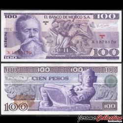 MEXIQUE - BILLET de 100 Pesos - Venustiano Carranza - 1974 P66a