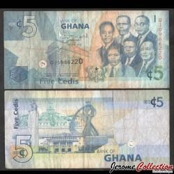 GHANA - Billet de 5 Cedis - 2014 P38e