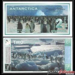ANTARCTICA - Billet de 2 DOLLARS - Manchots empereurs - 1.03.1996 0002
