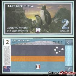 ANTARCTICA - Billet de 2 DOLLARS - Pingouins - 28.11.1999 0002b