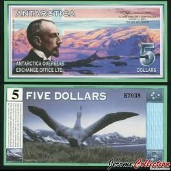ANTARCTICA - Billet de 5 DOLLARS - Roald Amundsen - 1.1.2001 0005