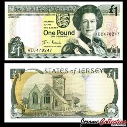 JERSEY - Billet de 1 Pound - Église paroissiale Saint-Hélier - 2000 P26b