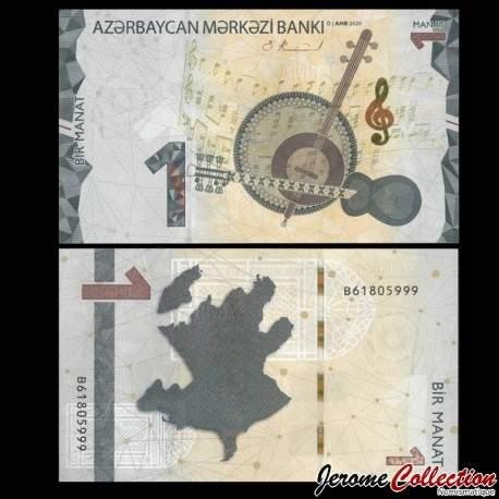 AZERBAIDJAN - Billet de 1 Manat - 2020 P31c