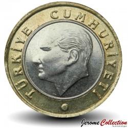 TURQUIE - PIECE de 1 Lira - Mustafa Kemal Atatürk - 2020 Km#1244