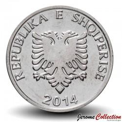ALBANIE - PIECE de 5LEKE - Le blason d'Albanie - 2014 Km#76
