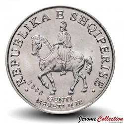 ALBANIE - PIECE de 50 LEKE - Le roi Genthios à cheval - 2000 Km#79