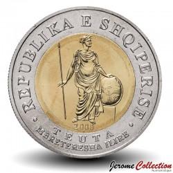 ALBANIE - PIECE de 100 LEKE - Bimétal - La reine d'Illyrie Teuta - 2000 Km#80