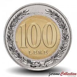 ALBANIE - PIECE de 100 LEKE - Bimétal - La reine d'Illyrie Teuta - 2000