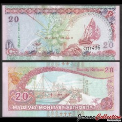 MALDIVES - Billet de 20 Rufiyaa - Port de Malé - 2000 P20b