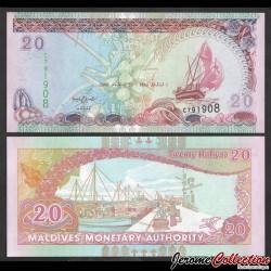 MALDIVES - Billet de 20 Rufiyaa - Port de Malé - 2008 P20c
