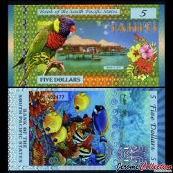 SOUTH PACIFIC STATES - Billet de 5 DOLLARS - Tahiti - 2015