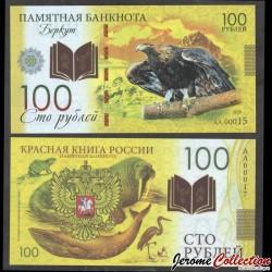 RUSSIE - Billet de 100 Roubles - Livre rouge de Russie - Aigle - Polymer - 2020 redbook_eagle