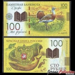 RUSSIE - Billet de 100 Roubles - Livre rouge de Russie - Outarde - Polymer - 2020 redbook_outarde