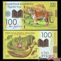 RUSSIE - Billet de 100 Roubles - Livre rouge de Russie - Tigre - Polymer - 2020 redbook_tigre