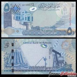 BAHREIN - Billet de 5 Dinars - 2008 P27a