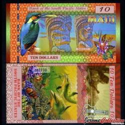 SOUTH PACIFIC STATES - Billet de 10 DOLLARS - Maui- 2015