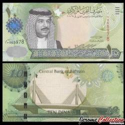 BAHREIN - Billet de 5 Dinars - Cheikh Hamad bin Isa al-Khalifa -2008 P28a