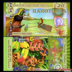 SOUTH PACIFIC STATES - Billet de 20 DOLLARS - Rarotonga - 2015 0020