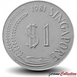 SINGAPOUR - PIECE de 1 Dollar - Lion stylisé - 1981