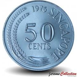 SINGAPOUR - PIECE de 50 Cents - Rascasse volante - 1976