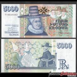 ISLANDE - Billet de 5000 Kronur - Gísli Þorláksson - 2001 / 2009 P60c