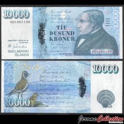 ISLANDE - Billet de 10000 Kronur - Jónas Hallgrímsson - 2001 / 2013 P61a